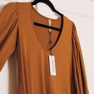 Rachel Pally Ezra dress in Caramel XS